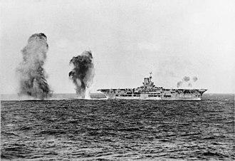 Battle of Cape Spartivento - Image: HMS Ark Royal attack