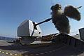 HMS DEFENDER fires her 4.5 inch Mk 8 Mod 1 naval gun MOD 45157963.jpg