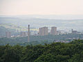 Halifax, from Whitehill Road, Illingworth on a misty day (25th July 2010).jpg