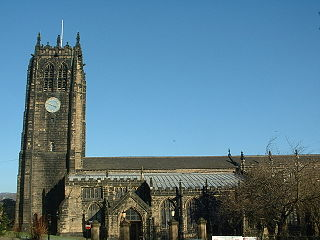 Halifax Minster Church in England