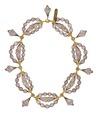 Halsband med nätkulor av hår, 1842 - Hallwylska museet - 98888.tif