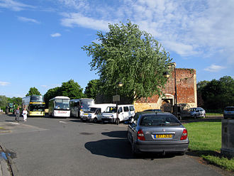 Ham, Somme - Car park and approach to the Château entrance