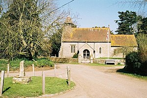 Hammoon - Image: Hammoon, church and cross geograph.org.uk 506487