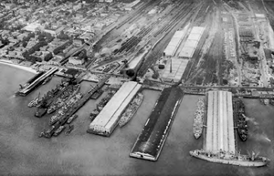 Hampton Roads Port of Embarkation - Leased facilities at Newport News, Virginia operated by the Hampton Roads Port of Embarkation.