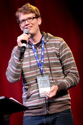 Hank Green - Hank Green at VidCon 2014.