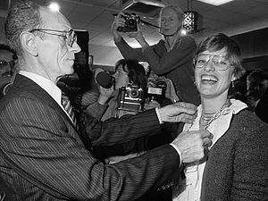 Hanneke Jagersma - Hanneke Jagersma when she was installed as mayor of Beerta in 1982