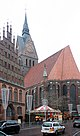 Hanover, the Marktkirche and the Old town hall.JPG