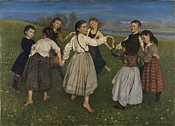 Hans Thoma: Children Dancing in a Ring