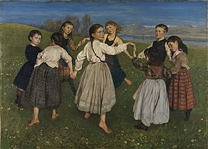Ring a Ring o' Roses - Children's Dances by Hans Thoma.