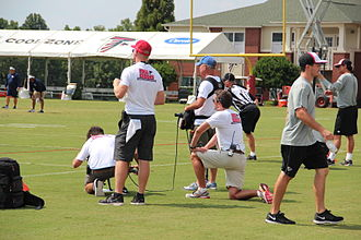 Hard Knocks (TV series) - Hard Knocks film crew at Atlanta Falcons training camp, 2014