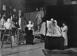 Harro Magnussen - Magnussen in his studio. (1898)