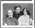Harry Houdini with his wife Beatrice and mother Cecilia Steiner Weiss, 3c12416u.tif
