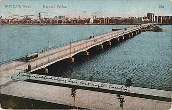English: Harvard Bridge over the Charles River...