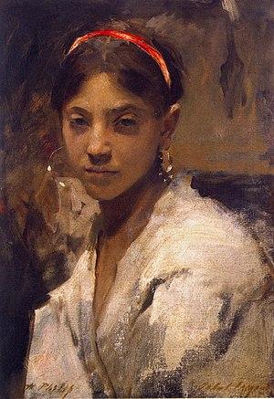 Head of a Capri Girl-John Singer Sargent 1878