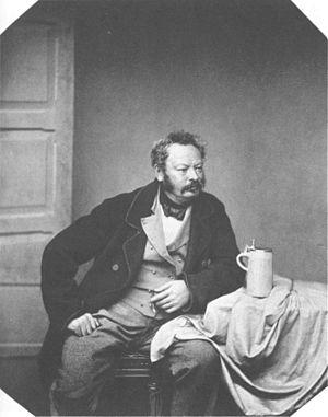 Heinrich Bürkel - Portrait of Bürkel by Franz Hanfstaengl, ca. 1856.