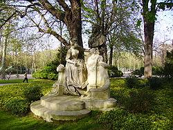monument to jean antoine watteau by henri dsir gauqui 1896 - Jardin Du Luxembourg