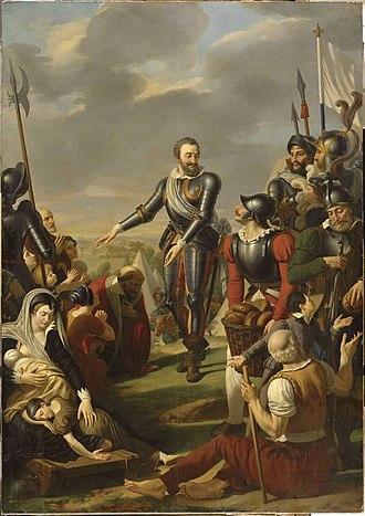 Jean-Charles Tardieu - Henri IV devant Paris Aout 1590