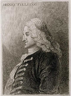 Henry Fielding omkring 1743.