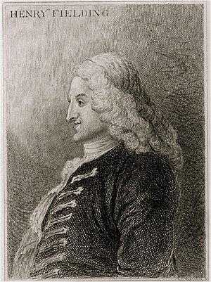 Henry Fielding - Henry Fielding, about 1743, etching by Jonathan Wild