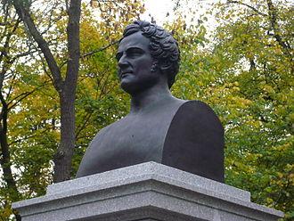 Herman Wedel Jarlsberg - Bust  of Herman Wedel Jarlsberg at Bygdøy in Oslo