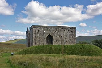 Earl of Douglas - Hermitage Castle, stone castle built by 1st Earl, and held by the Douglases from the mid-14th until the late 15th century
