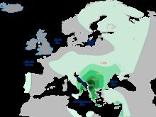 Хаплогрупата Е-M35 е местна за Балканският полуостров