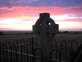 English: High Cross on the Hill of Tara, Co.Me...