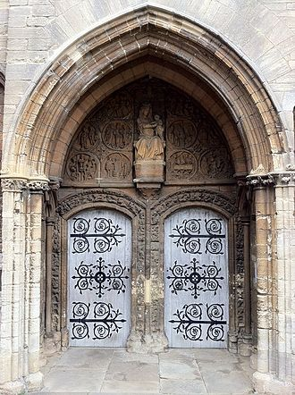 St Mary's Church, Higham Ferrers - The west porch entrance