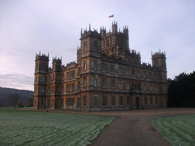 Highclere Castle van de Carnarvon-familie, gel...