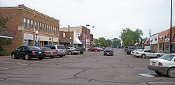 Main Street in downtown Hinckley in 2007