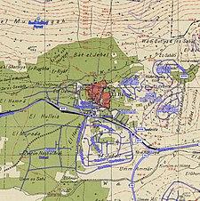 Historische kaartserie voor het gebied van al-Bassa (jaren 40 met moderne overlay) .jpg