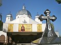 Holy Trinity Ukrainian Catholic Church, Vegreville, cross.jpg