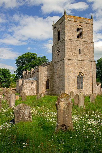 "Church of England - One of the now ""redundant"" buildings, Holy Trinity Church, Wensley, in North Yorkshire; much of the current structure was built in the 14th and 15th Centuries"