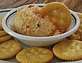 Homemade pimento cheese spread with crackers (cropped).jpg