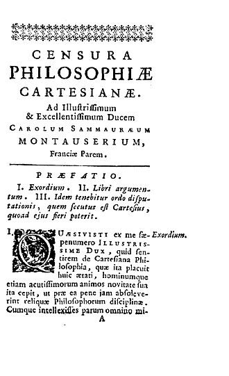 Pierre Daniel Huet - Censura philosophiae Cartesianae, 1723