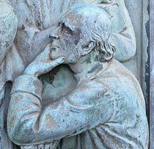 Hufeland, im Relief am Reiterdenkmal für FW III (Preußen), Heumarkt Köln (Quelle: Wikimedia)