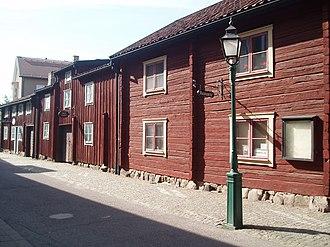 Linköping - Hunnebergsgatan: an old street with preserved older buildings.