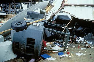 Hurricane Gilbert - Damage at Kelly Air Force Base, Texas