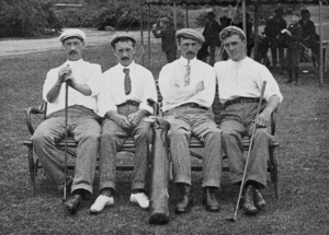 Jack Hobens - (From left to right): Isaac Mackie, Jack Hobens, Alex Ross, and George Thomson at the 1904 U.S. Open