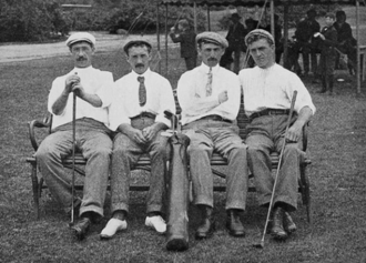 Alec Ross - (From left to right): Isaac Mackie, Jack Hobens, Alec Ross, and George Thomson at the 1904 U.S. Open