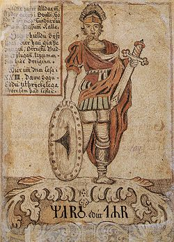 The god Týr, identified with Mars, after whom Tuesday is named.
