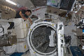 ISS-32 Akihiko Hoshide near the airlock in the Kibo lab.jpg