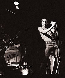 Iggy Pop, 25 ottobre 1977 in concerto allo State Theatre di Minneapolis.