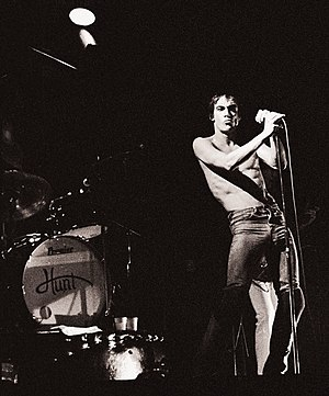 English: Iggy Pop, October 25, 1977 at the Sta...