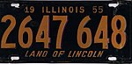 Illinois 1955 license plate - Number 2647 648.jpg