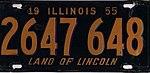 Illinois 1955 license plate - Number 2647 648.jpg