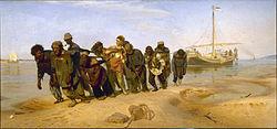 Ilja Repin: Burlakid Volgal