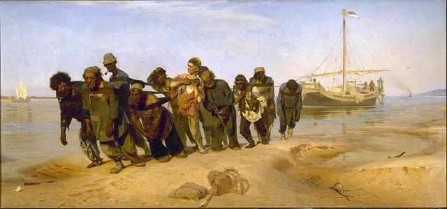 И.Е.Репин. «Бурлаки на Волге». 1870—1873
