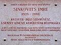 Imre Sinkovits plaque Budapest03.jpg