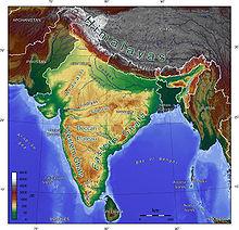 インドの地形図